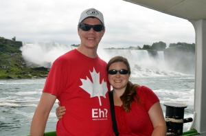 "B & L on the ""Maid of the Mist"", Niagara Falls, ON, Canada"