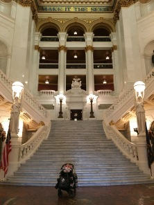Tori enjoying the rotunda before our meeting